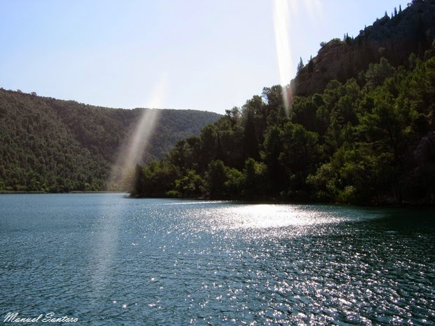 Navigando il fiume Krka
