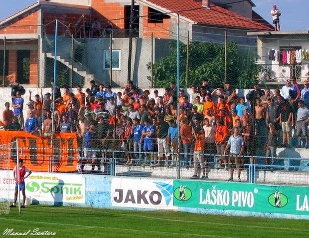 Zadar, Incontro Zadar - Sibenik 2-2, tifosi del Sibenik