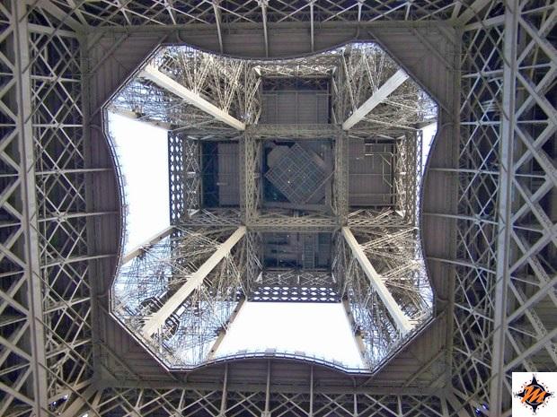 Parigi, la Tour Eiffel vista dal basso