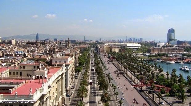 Barcellona, panorama dal Monumento a Colombo