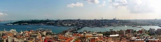 Istanbul, panorama dalla Torre di Galata