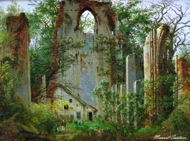 Berlino, Galleria Nazionale Alte, Caspar David Friedrich, Le rovine del Monastero di Eldena vicino Greisfwald