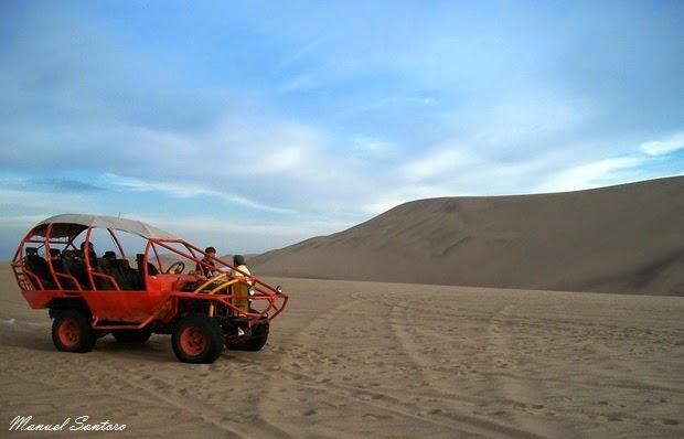 Tra le dune il buggy ci lascia
