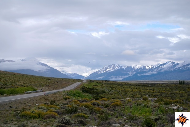 Sosta verso il ghiacciaio Perito Moreno