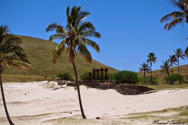 Isola di Pasqua, Anakena, Ahu Nau Nau