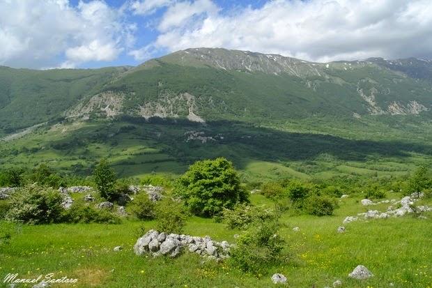 Sant'Eufemia a Majella, vista su Roccacaramanico