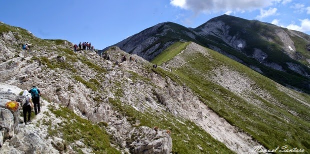 Raggiungendo il monte Brancastello
