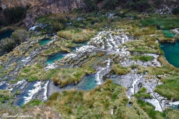 Raggiungendo Huancaya, splendide cascate