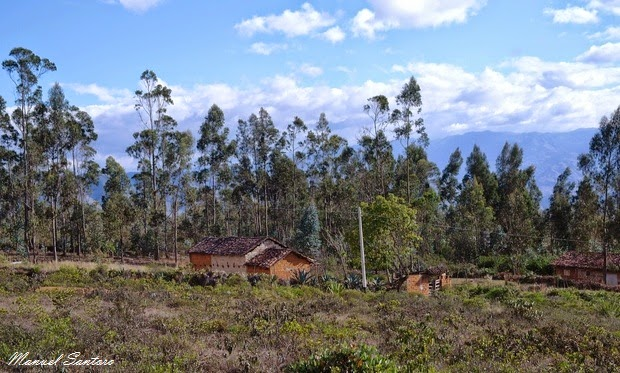 Huancas, vista dal mirador