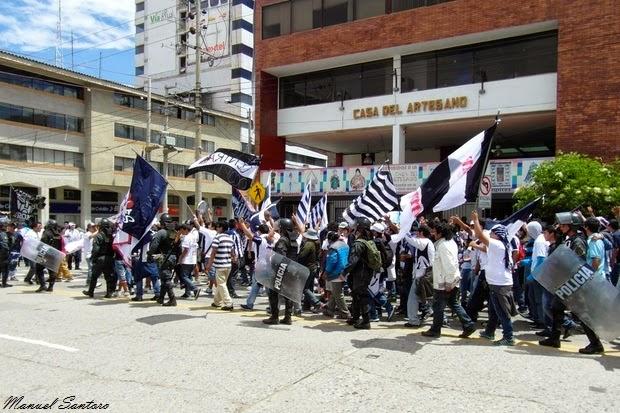 Huancayo, tifosi dell'Alianza Lima in trasferta
