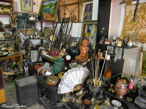 Huancayo, un negozio d'antiquariato nei pressi della Feria Dominical