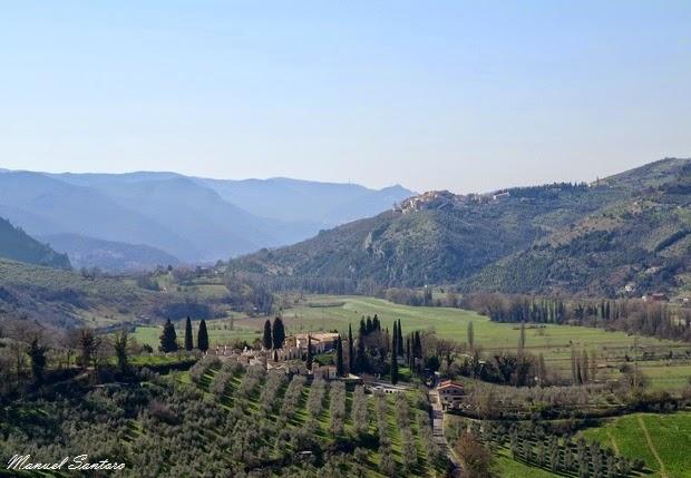 Ferentillo, Precetto. Vista panoramica sulla Valnerina