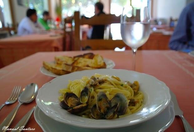 Vasto, località Punta Penna, ristorante Il Corsaro. Spaghetti alle vongole