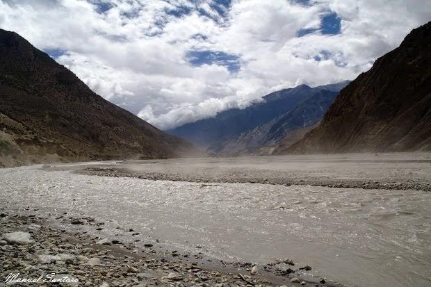 Raggiungendo Kagbeni, lungo il Kali Gandaki