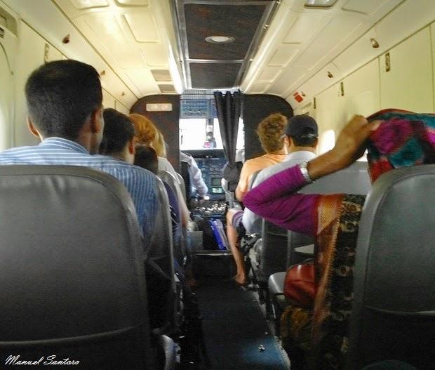 In volo da Pokhara a Jomsom