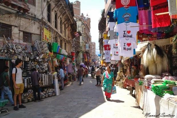Kathmandu, raggiungendo Durbar Square