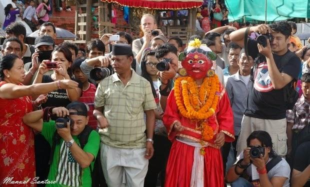 Kathmandu, Durbar Square. Indra Jatra