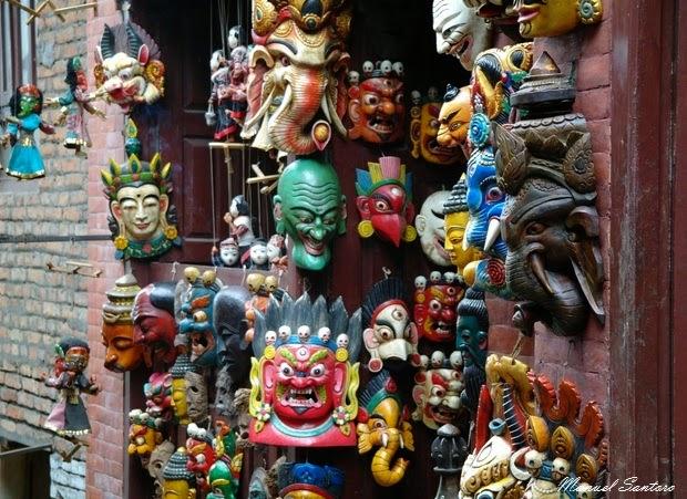Swayambhunath, negozio di souvenir