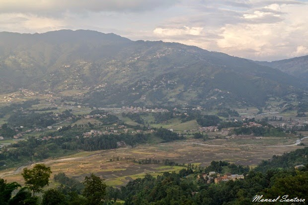 Valle di Kathmandu vista dal tempio di Changu Narayan