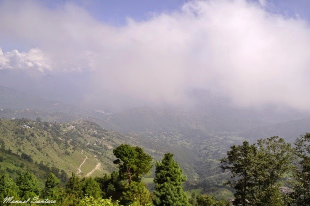 Nagarkot, vista dall'Hotel Green Valley
