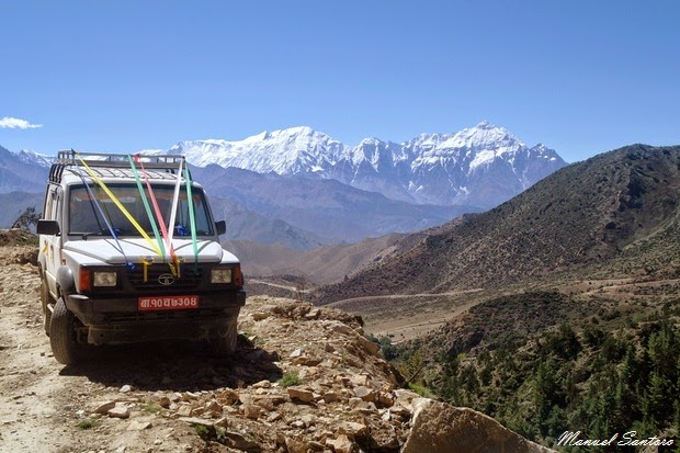 In jeep da Lo Manthang a Chele