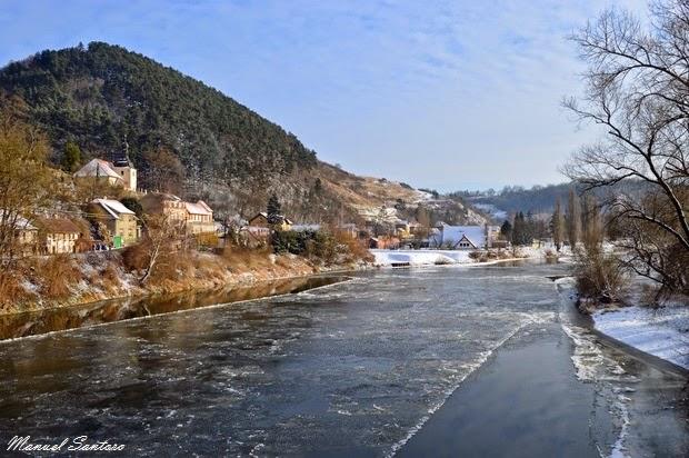 Karlštejn, fiume Berounka