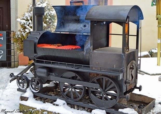 Karlštejn, locomotiva barbecue