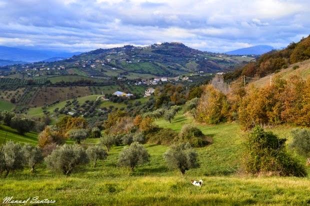 Colline nei dintorni di Castelbasso