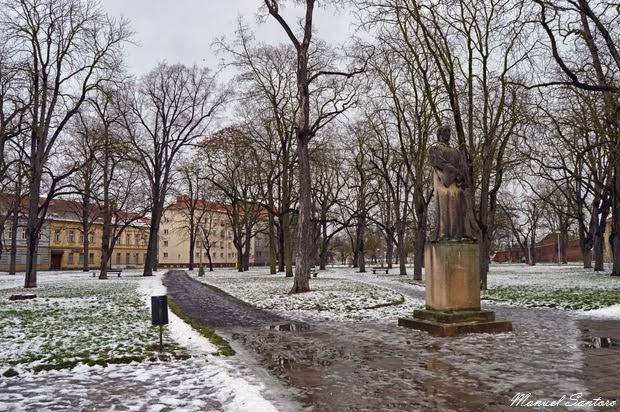 Terezin, parco pubblico antistante Museo del Ghetto