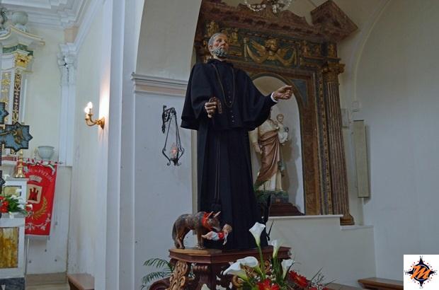 Pretoro, chiesa di San Nicola. Statua di San Domenico