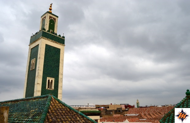 Meknes, Madrasa Bou Inania. Vista dal tetto sulla Grande Moschea
