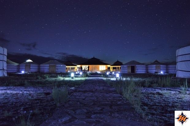 Notte stellata sul Gobiin Anar Ger Camp