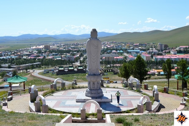 Tsetserleg, vista dal tempio di Galdan Zuu