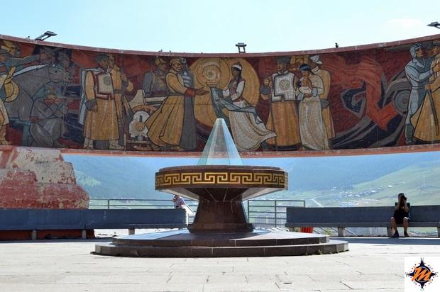 Ulan Bator, Zaisan Hill. Monumento Commemorativo Zaisan