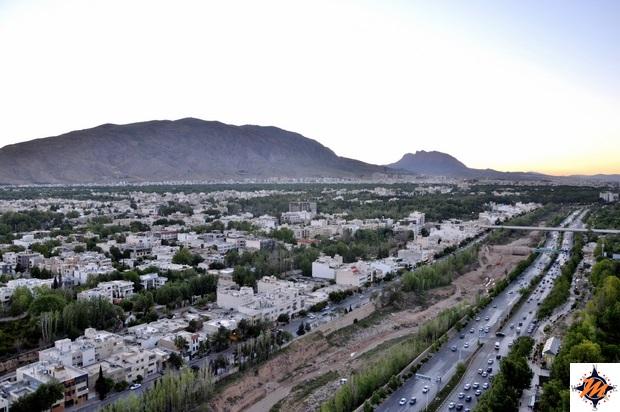 Shiraz, vista dal Chamran Grand Hotel
