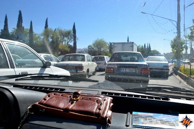 Nel traffico di Shiraz