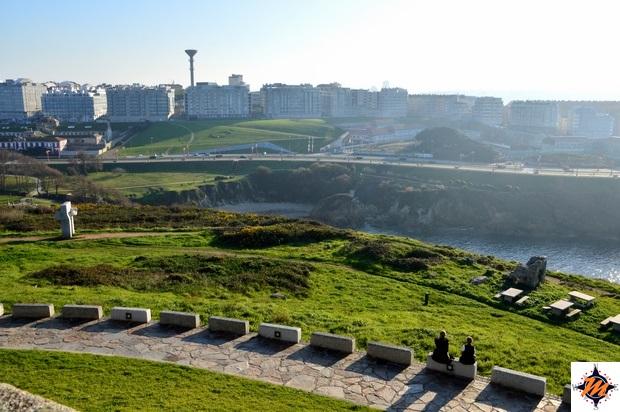 La Coruña, vista dalla Torre de Hercules