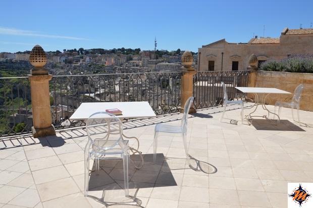 Matera, Palazzo Gattini. Vista dal terrazzino