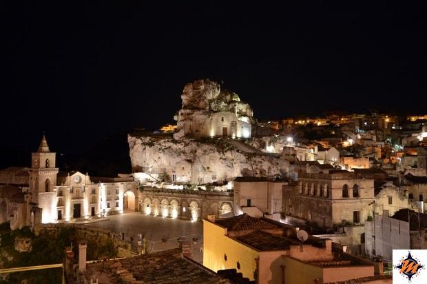 Matera, Sant'Angelo Luxury Resort. Vista dal Lounge Terrace