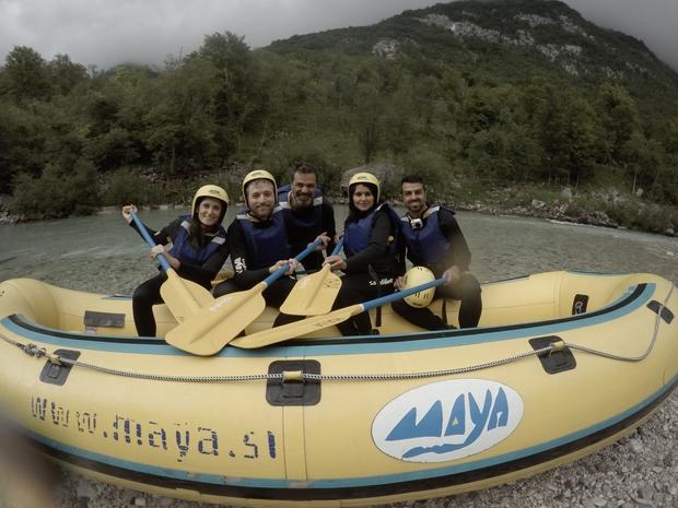 Rafting sul fiume Isonzo