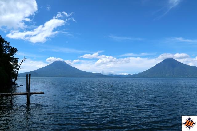 Il Lago Atitlán nelle vicinanze dell'Atitlán Sunset Lodge