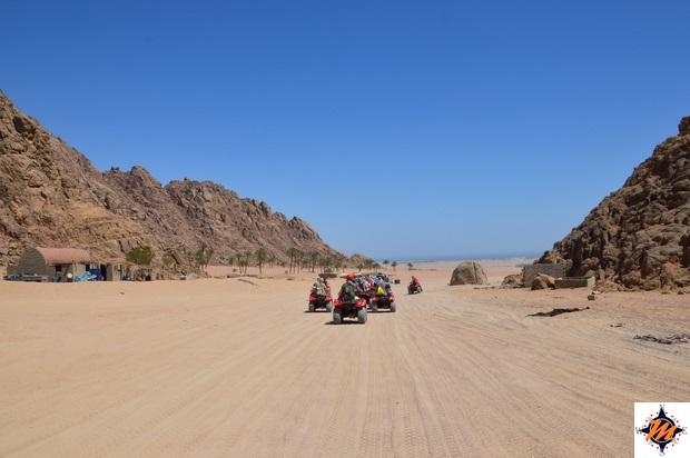 In quad nei pressi di Sharm El Sheikh